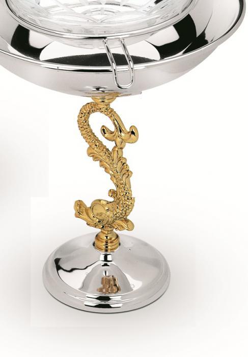 Bol Pentru Caviar placat cu aur Chinelli - Made in Italy 1