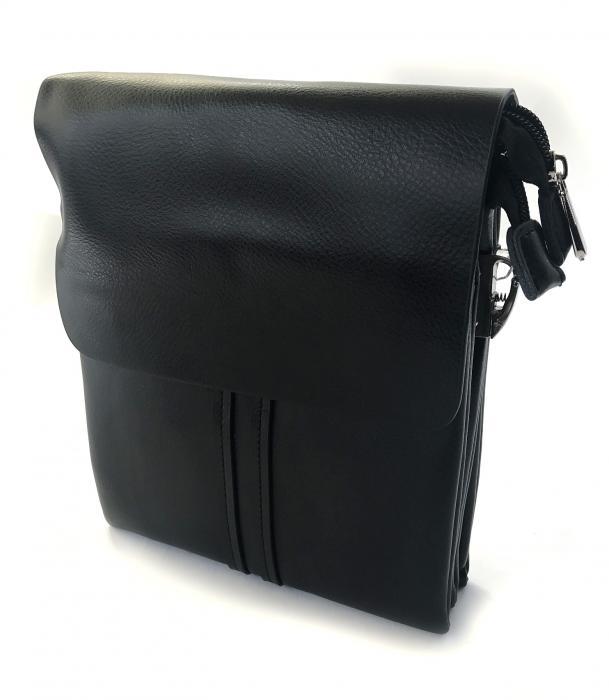 Borseta si portofel din piele naturala - personalizabile, negru 1