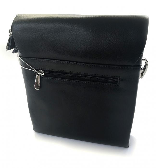 Borseta si portofel din piele naturala - personalizabile, negru 2
