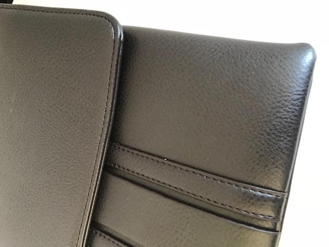 Borseta piele naturala negru/maro si portofel piele naturala - personalizabil-big