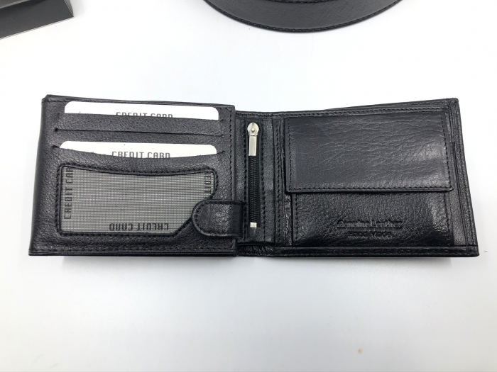 Borseta si portofel din piele naturala - personalizabile, negru 7