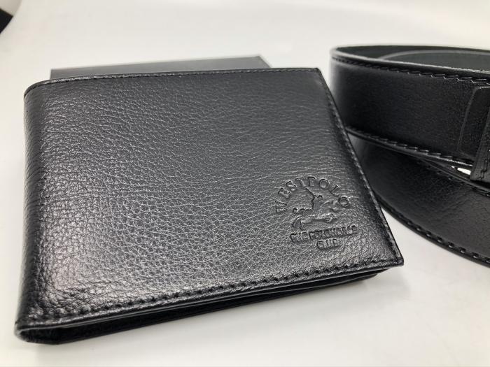 Borseta si portofel din piele naturala - personalizabile, negru 5