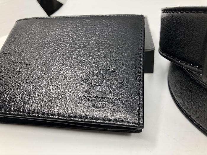 Borseta si portofel din piele naturala - personalizabile, negru 6