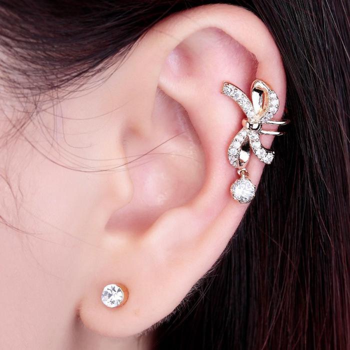 Cercei Ear Cuff Pin Bow 1