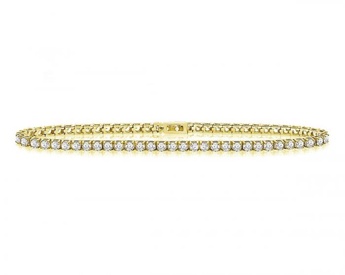 Brăţară Borealy Small Diamonds Tennis Classic Gold-big
