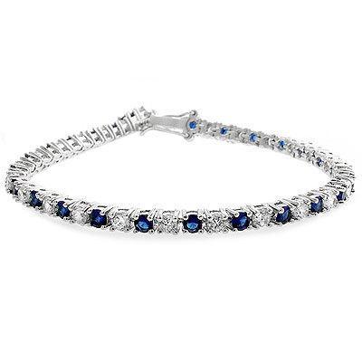 Brăţară Tennis Classic 10 carate Simulated Diamonds & Blue Sapphire by Borealy-big