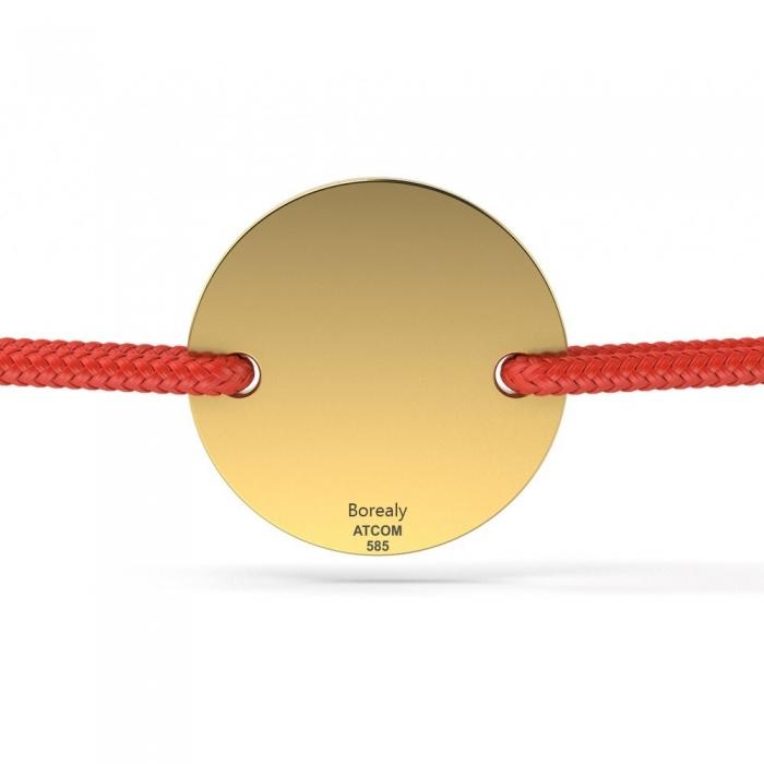 Bratara Banut Aur galben 14 kt personalizabila-big