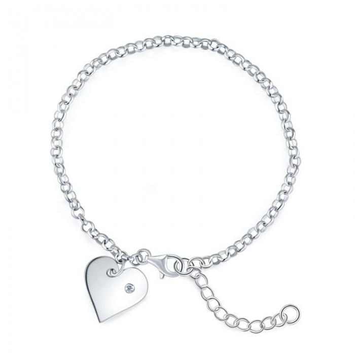 Bratara Personalizabila Argint 925 Pretty Heart,  by Borealy [0]
