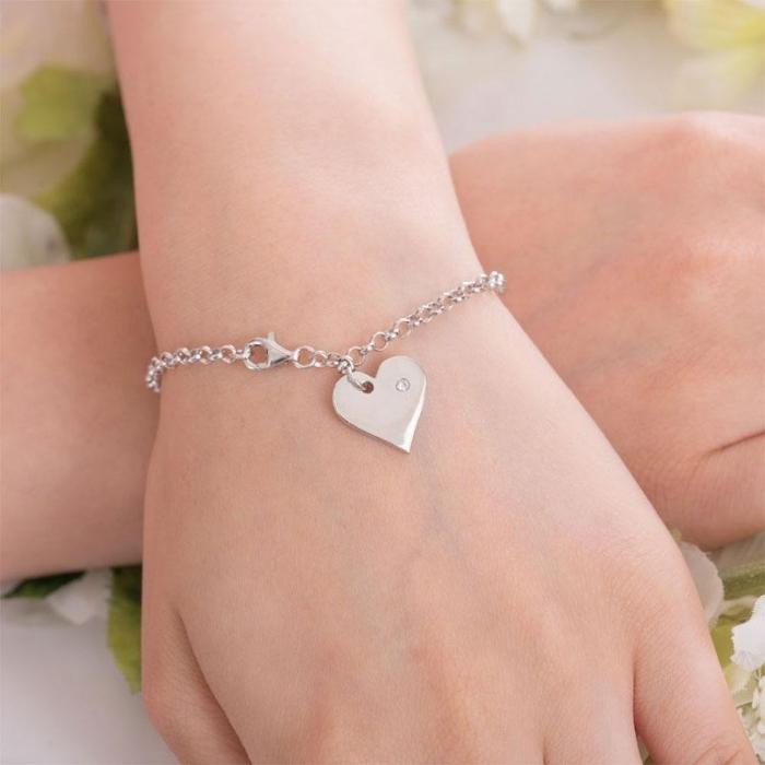 Bratara Personalizabila Argint 925 Pretty Heart,  by Borealy [2]