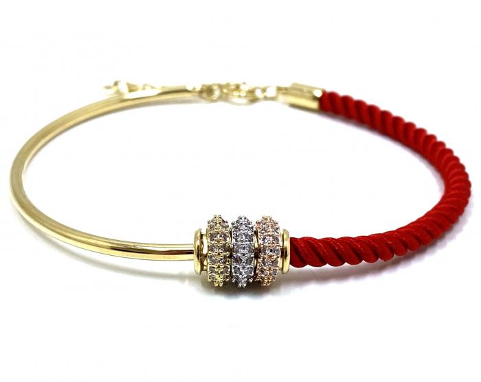 Bratara  Luxury Zero Snur Rosu - Valentine's Day 0