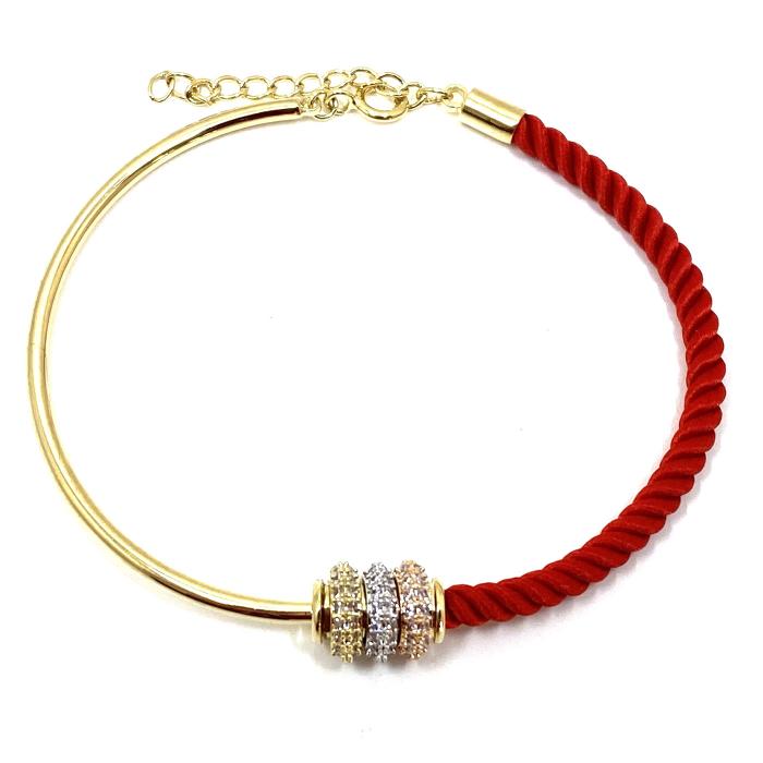 Bratara  Luxury Zero Snur Rosu - Valentine's Day 1