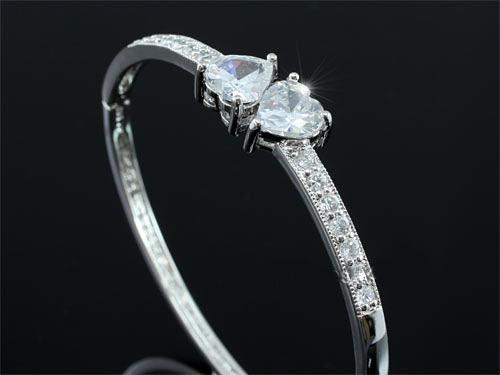 Brăţară Borealy Two Hearts Bangle-big