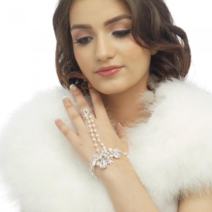 Bratara Borealy Pearl Luxury Hand 1