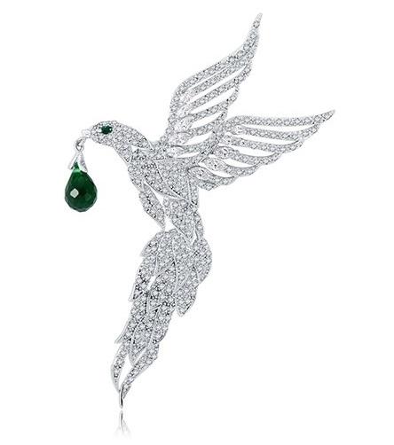 Broşă Eagle Emerald Drop by Borealy 0