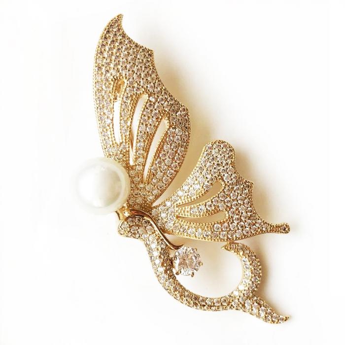 Broşă Butterfly Glam Gold [1]