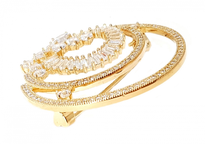 Brosa Full Moon Crystals Gold [1]