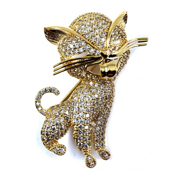 Brosa Pisica Gold [0]