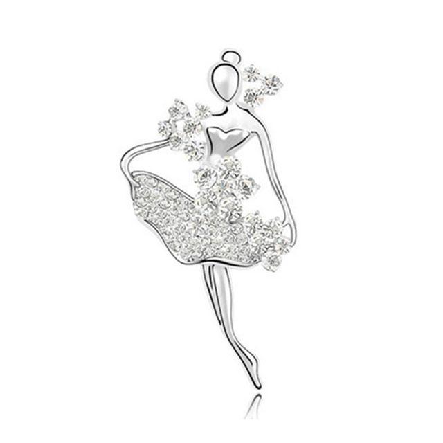 Broşă Balerină - White Swan by Borealy 0