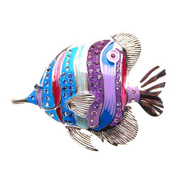 Broşă Multicolour Clown Fish Blue by Borealy 0