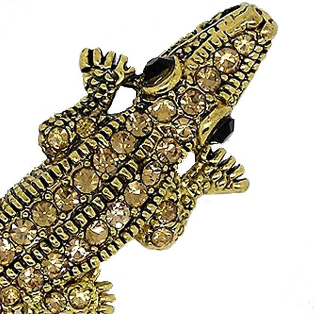 Brosa Sparkling Gold Crocodile-big