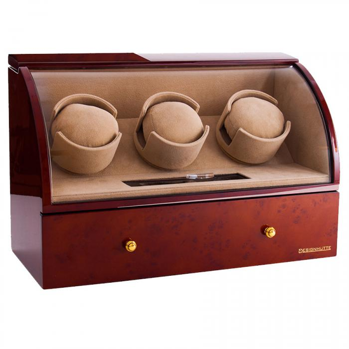 Brown Watch Winder Basel 3 by Designhütte - Made in Germany-big