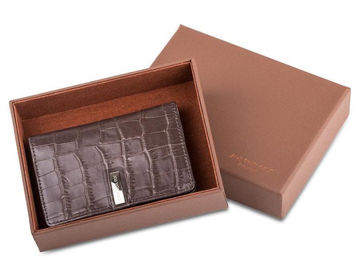 Brown Cardholder and Pen by Jos Von Arx 2
