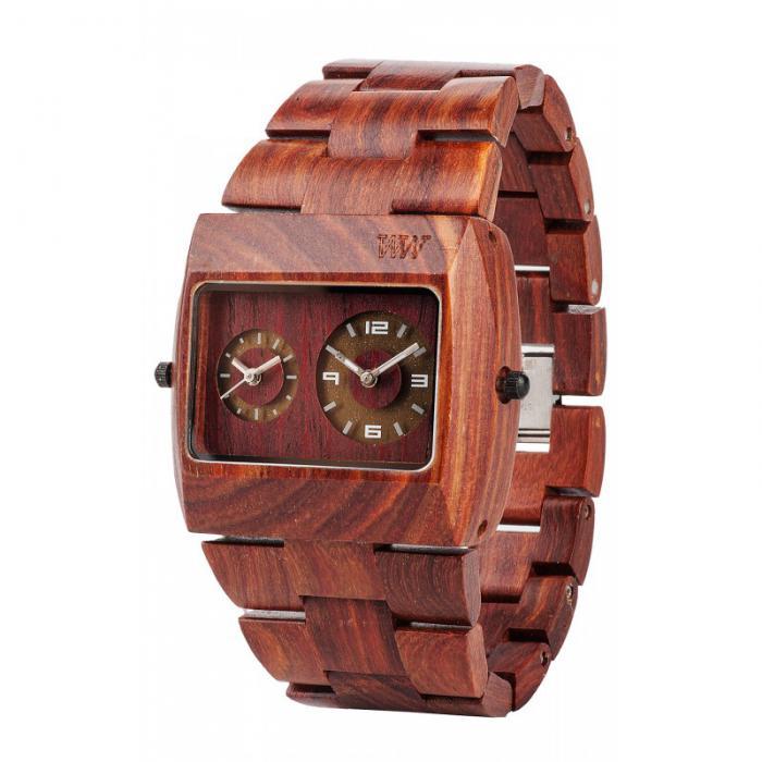 Jupiter Brown Wood Watch for Men - Ceas 100% din lemn lucrat manual-big