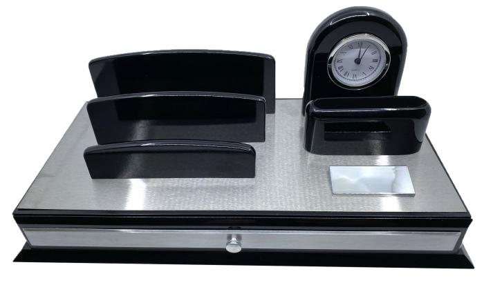 Premium Business Desk Silver [0]