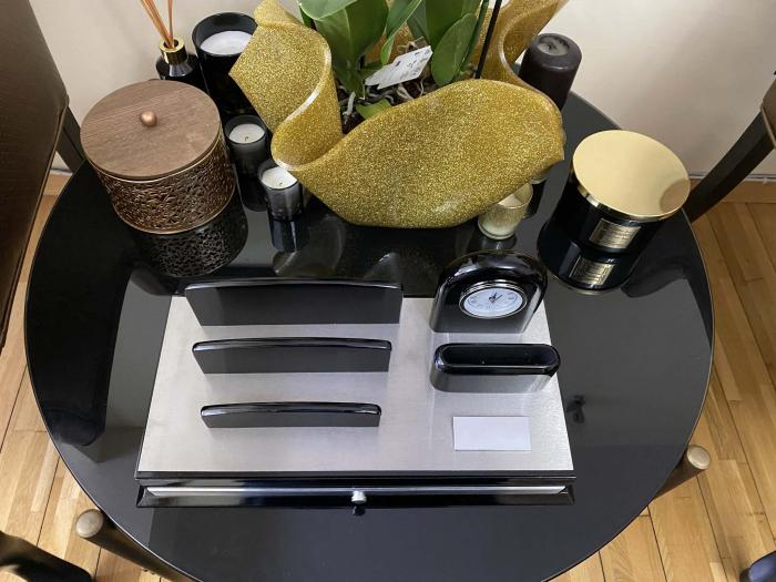 Premium Business Desk Silver [3]