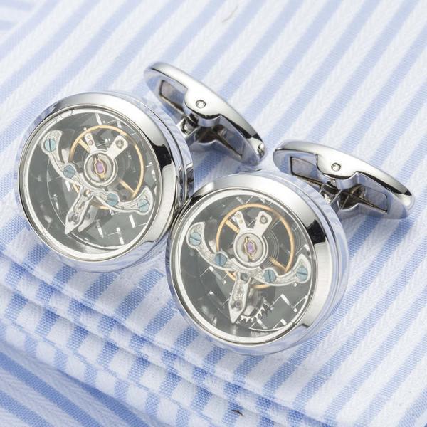 Set Butoni Tourbillon Luxury Silver si Note pad Black Hugo Boss - personalizabil 4