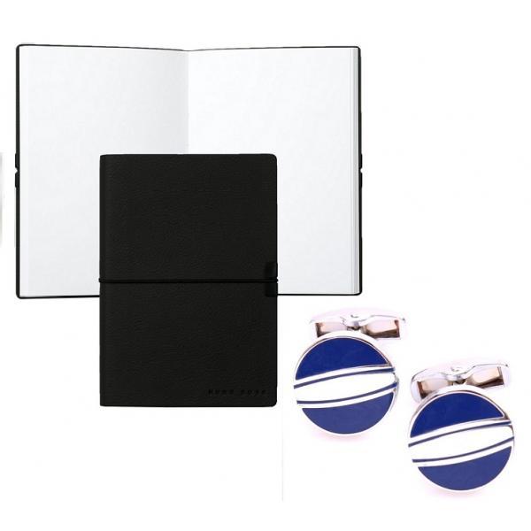 Set Butoni Borealy Elegant Blue Circle si Note pad Black Hugo Boss 0