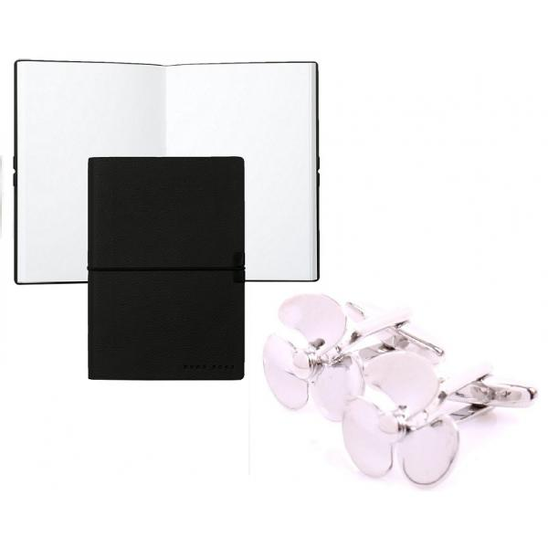 Set Butoni Borealy Elice si Note pad Black Hugo Boss 0