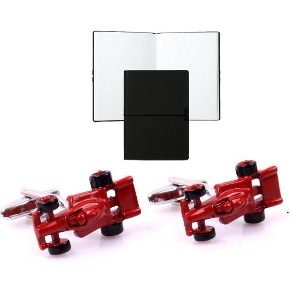 Set Butoni Borealy Ferrari Red Passion si Note pad Black Hugo Boss 0