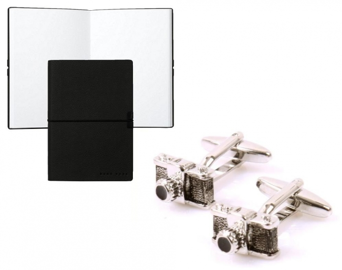 Butoni Borealy Passion for Photo si Note pad Black Hugo Boss 0