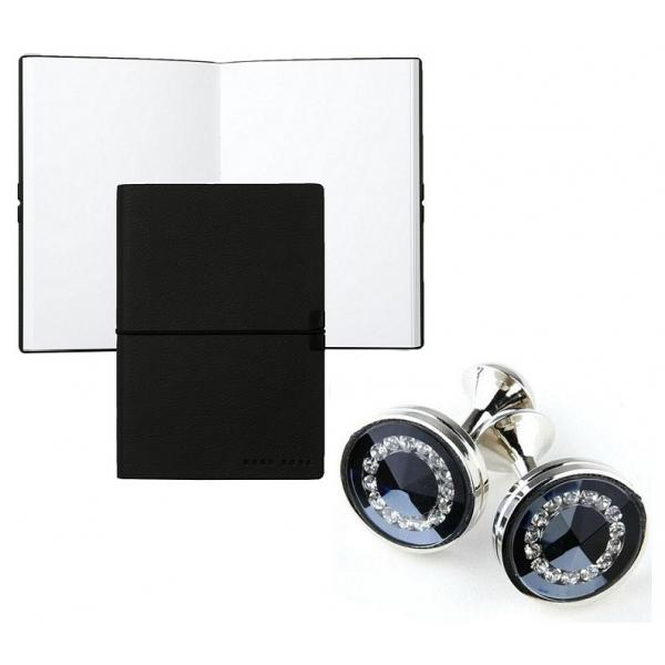 Set Butoni Borealy Platinum si Note pad Black Hugo Boss 0