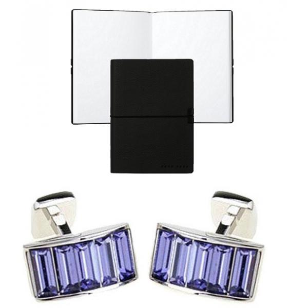 Set Butoni Borealy Violet Arc si Note pad Black Hugo Boss-big