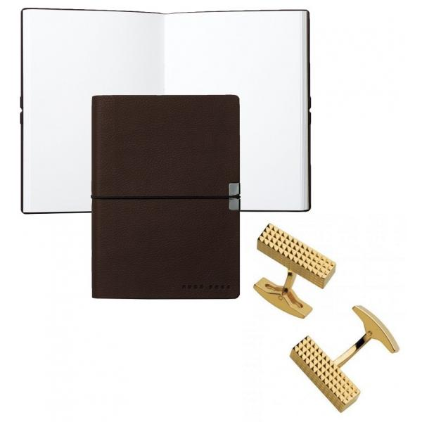 Set Butoni Gold Plated S.T. Dupont si Note pad Burgundy Hugo Boss 0