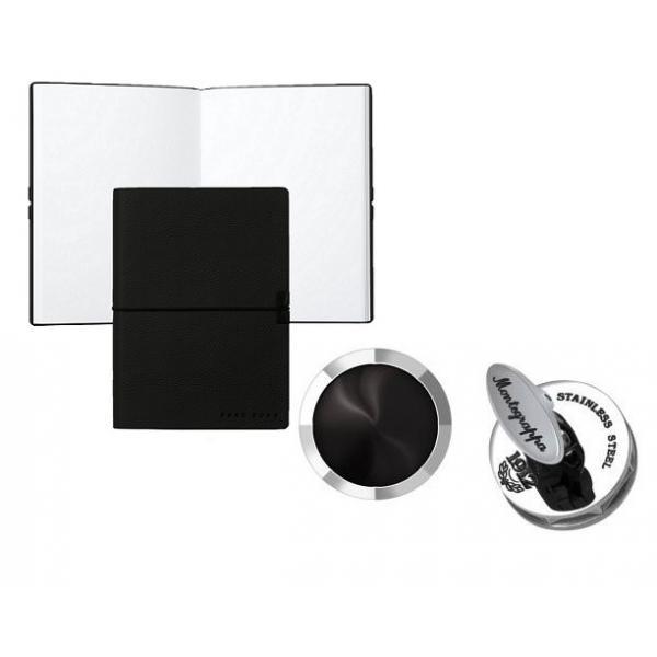 Set Butoni Nero Uno Silver Onyx by Montegrappa si Note pad Black Hugo Boss 0