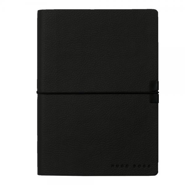 Set Butoni Nero Uno Silver Onyx by Montegrappa si Note pad Black Hugo Boss 4
