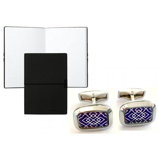 Set Butoni Sophisticated Bluemarine si Note pad Black Hugo Boss-big