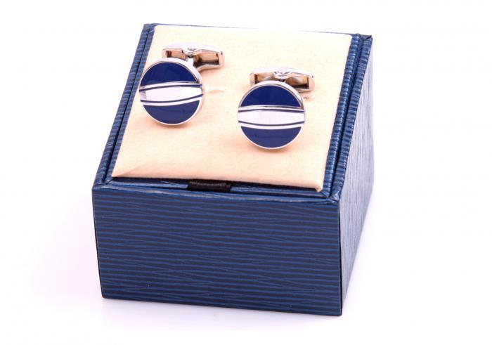 Set Butoni Borealy Elegant Blue Circle si Note pad Black Hugo Boss 3