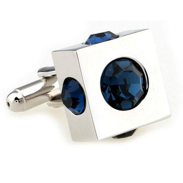 Butoni Borealy Cube Blue Simulated Sapphire-big