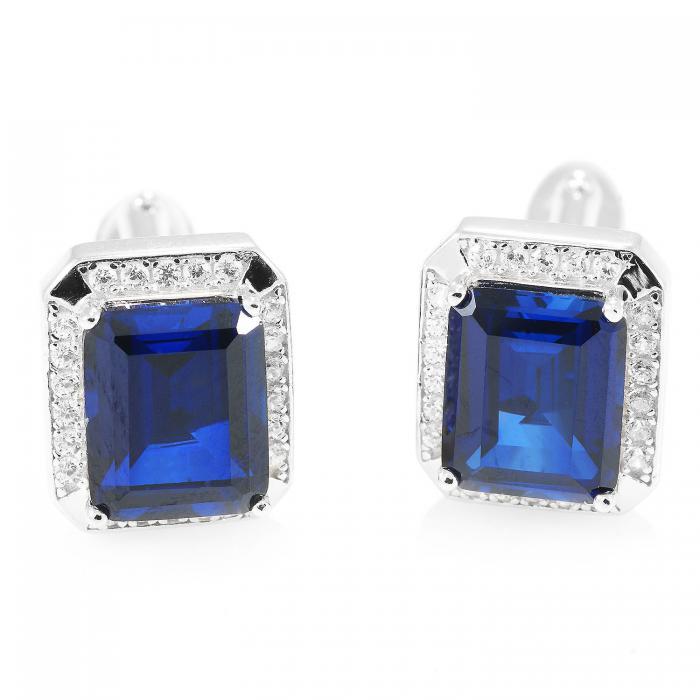 Butoni Borealy Luxury Safire 9 carate Argint 925 0