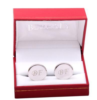Set Butoni Personalizabili Borealy Argint 925 si Note pad Black Hugo Boss 2