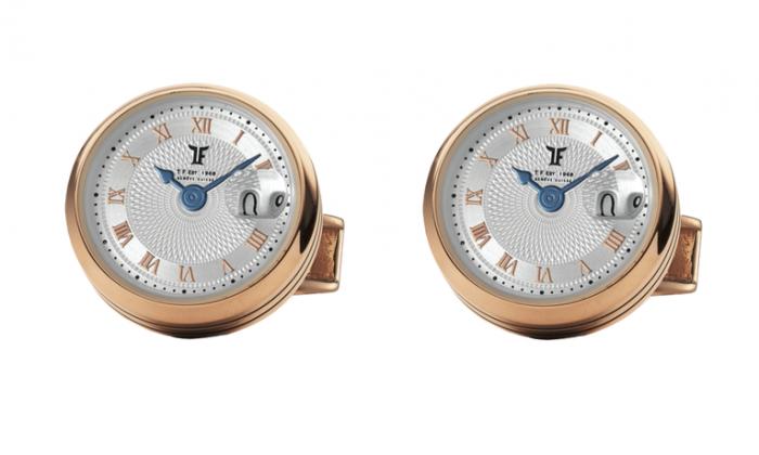 Butoni TF Est 1968 Watch Display - Placati cu Aur Roz - Made in Switzerland 0