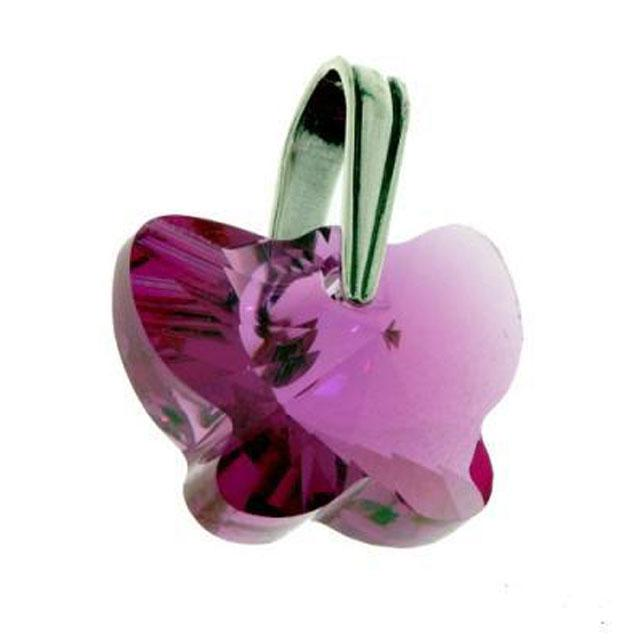 Colier Borealy 18 mm Butterfly Fuchsia 2