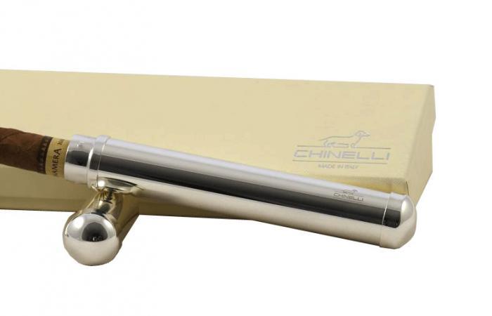 Chinelli set holder și cutter placate cu argint-big