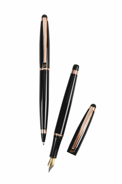 Cadou Business Black & Rose Gold Stilou si Pix 1
