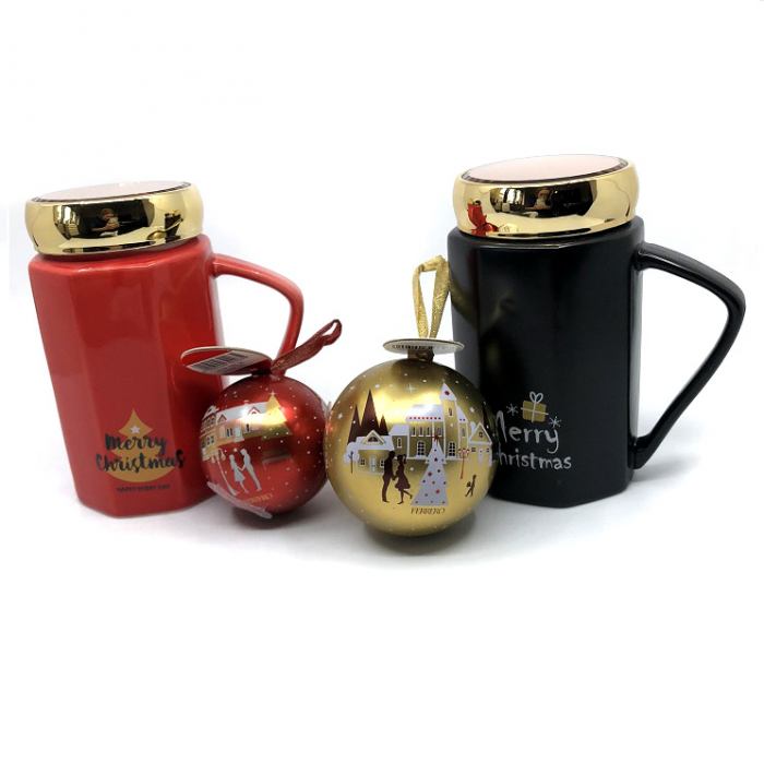 Cadou Craciun Luxurious Coffee for Two Red and Black [0]