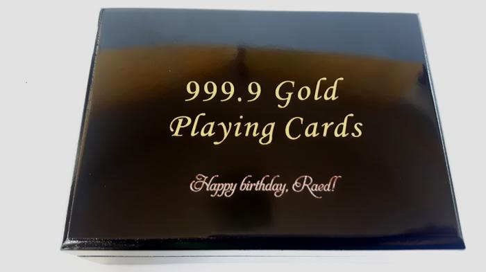 Cadou Gold Magic Playing Cards in cutie de lux din lemn personalizabila 6